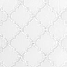 Fleur Snow Arabesque Glass Mosaic