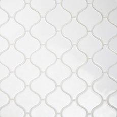 Arabesque Lantern White Porcelain Mosaic