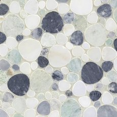 Coastal Marble Pebble Mosaic