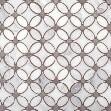 Gray and White Flower Marble Mosaic