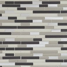 Cascades Polished Linear Glass and Metal Mosaic