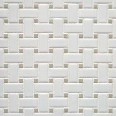 Matte Gray Dot Basket Weave Porcelain Mosaic