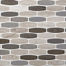 Harbor Glass Stone Mix Mosaic