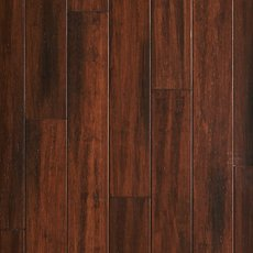 Heritage Pecan Hand Scraped Solid Stranded Bamboo