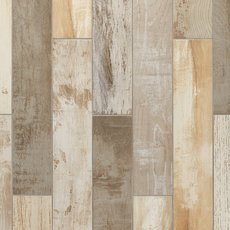 Avalon Pier Multi Color Wood Plank Porcelain Tile