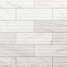 Marble Art Wave Polished Ceramic Tile