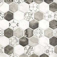 Chateau Ash 2 in. Hexagon Recycled Glass Mosaic