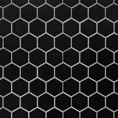 Matte Black Hexagon Porcelain Mosaic