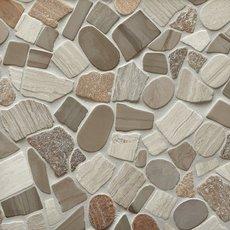 Mojave Tumbled Pebble Mosaic