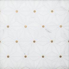 Nova Dolomite Brass Polished Marble Mosaic