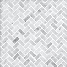 Bianco Carrara Herringbone Marble Mosaic