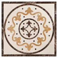 Fiore Di Marmo Decorative Polished Medallion