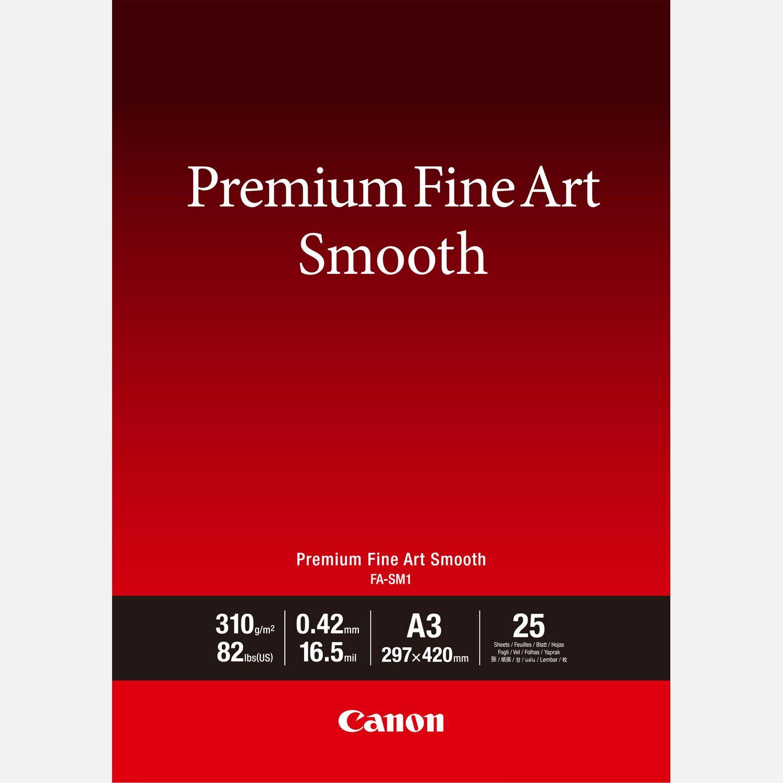 Papier A3 beaux-arts lisse Premium Canon FA-SM1 – 25 feuilles