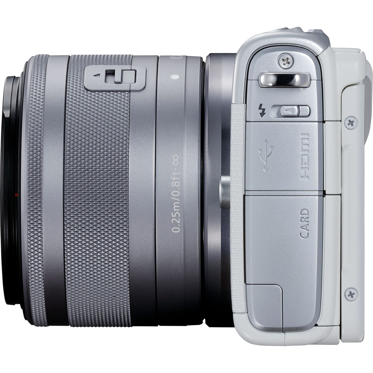 Buy Canon Eos M100 White Ef M 15 45mm F 35 63 Is Stm Lens Silver M3 Kit M15 Kamera Mirrorless Magnify Image