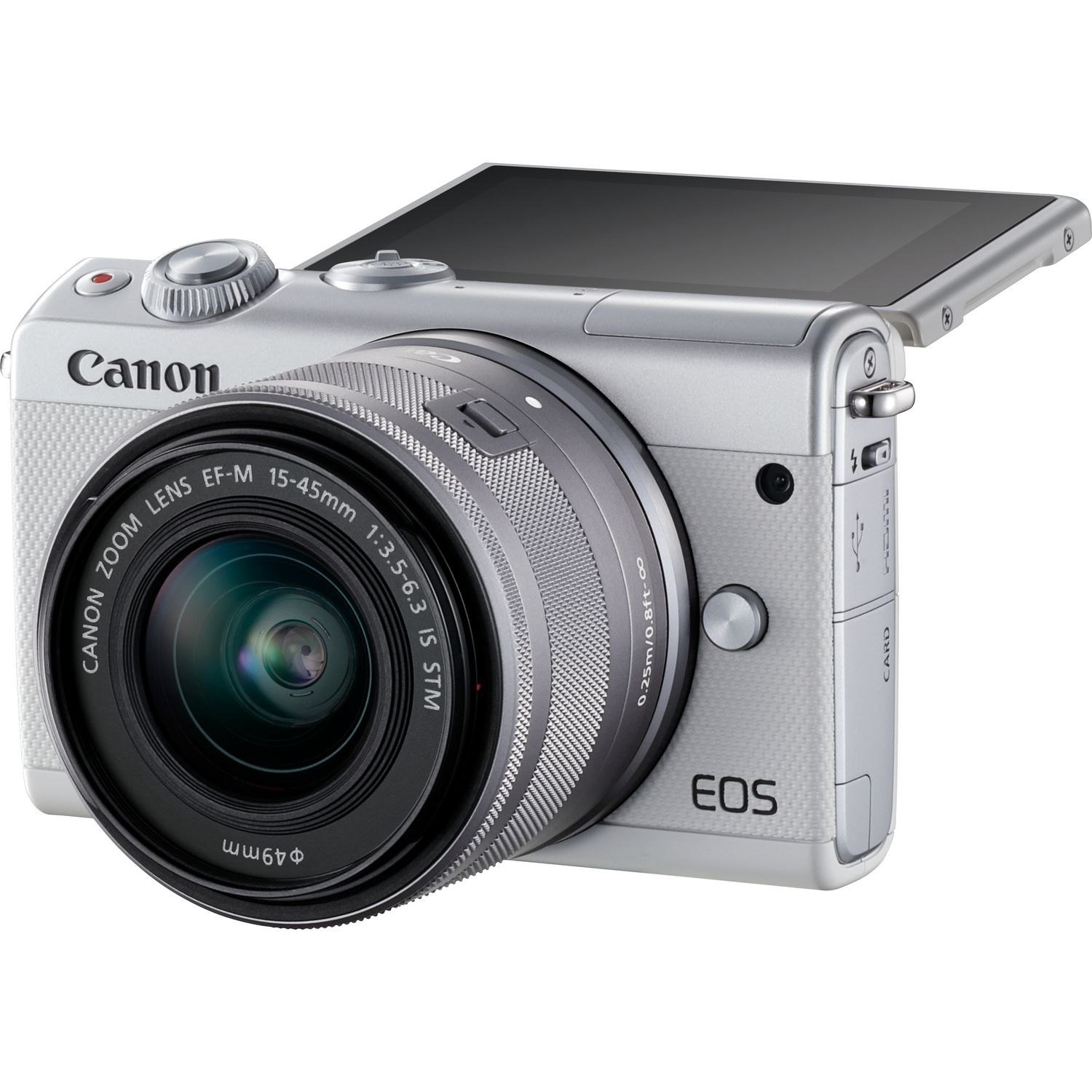 ad937481513cc7 Canon EOS M100 blanc, objectif EF-M 15-45mm f 3.5-6.3 IS STM argent ...