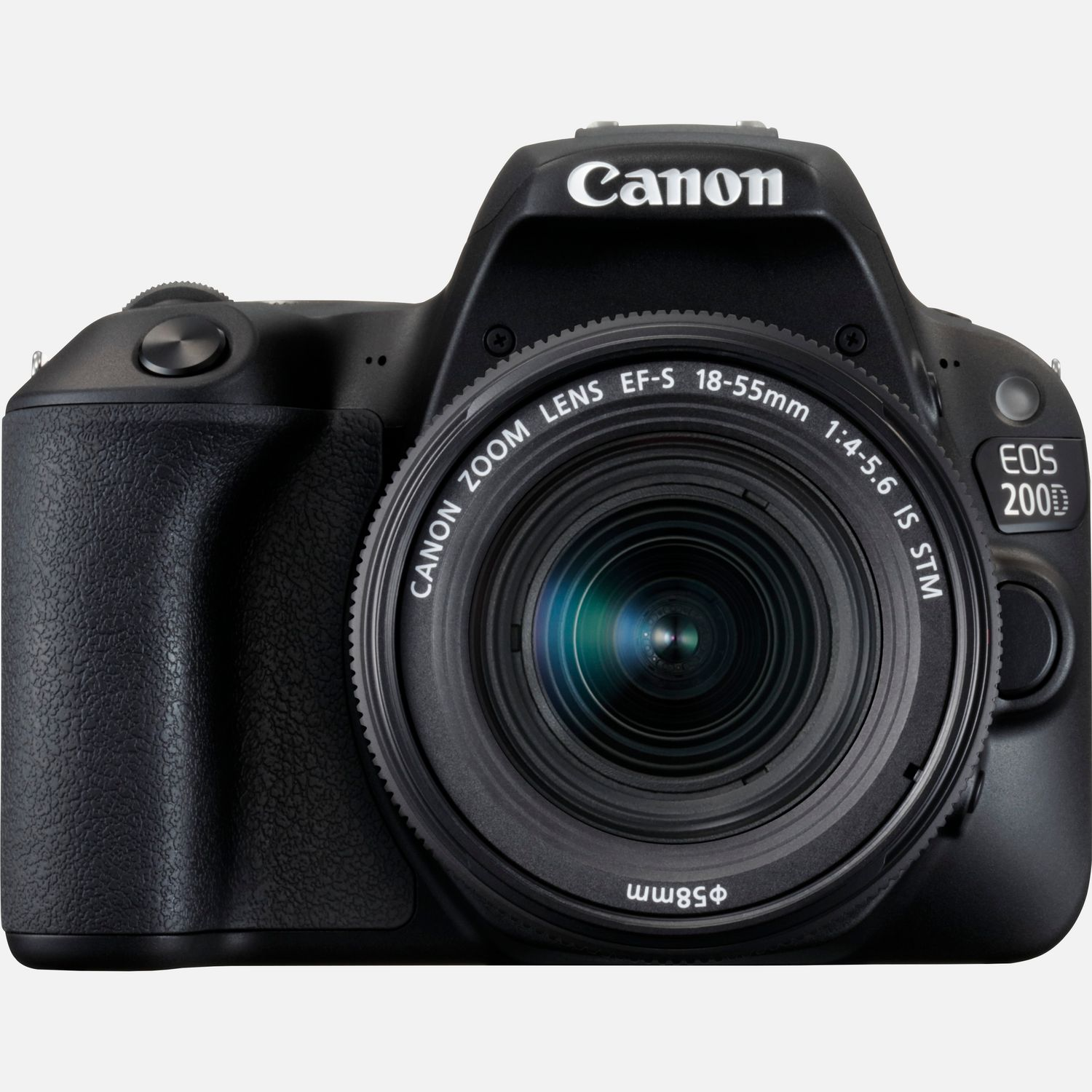 Image of Canon EOS 200D Black and EF-S 18-55mm f/4-5.6 IS STM Black