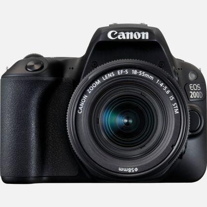 Canon EOS 200D noir et objectif EF-S 18-55mm f/4-5.6 IS STM noir
