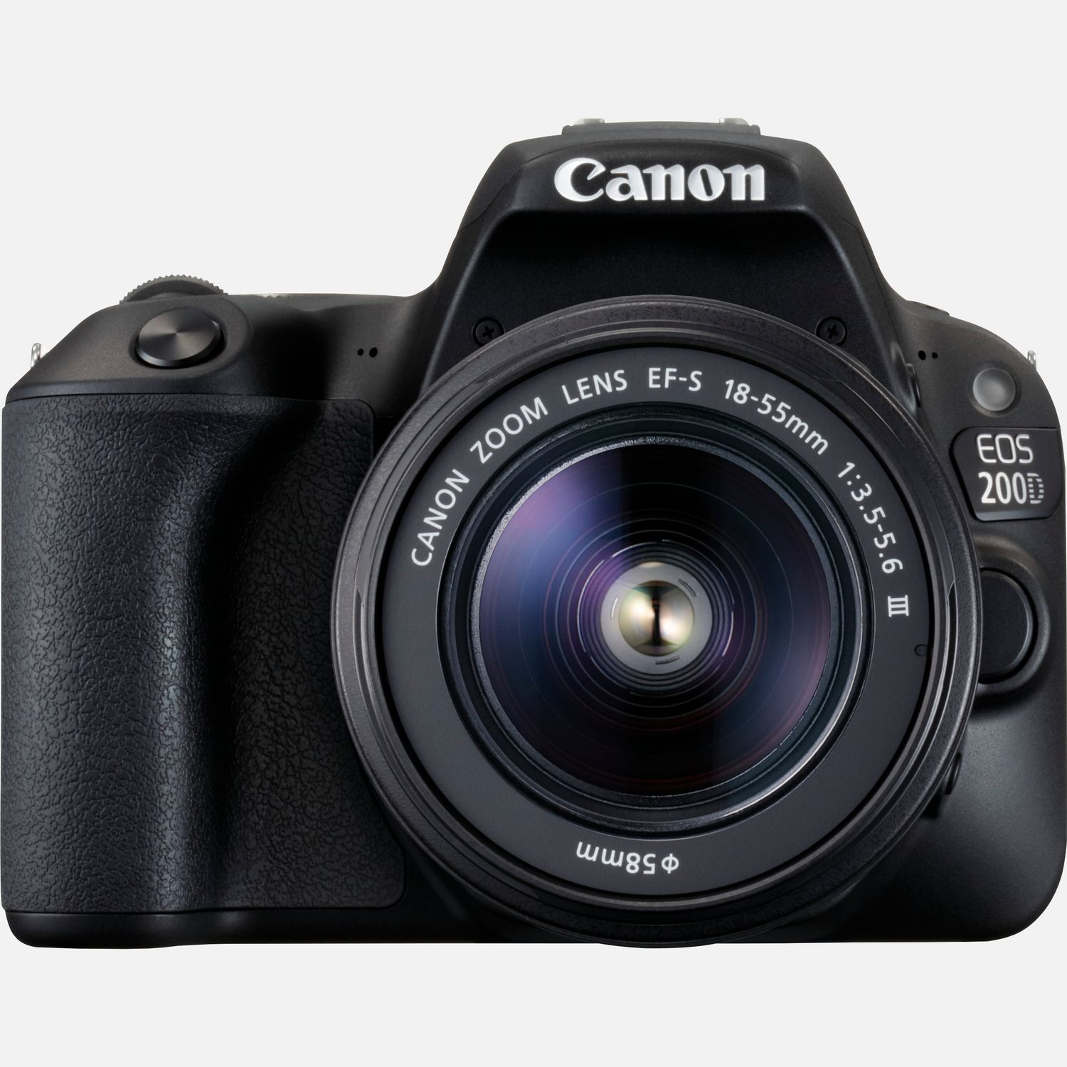 Image of Canon EOS 200D Black and EF-S 18-55mm f/3.5-5.6 III Lens