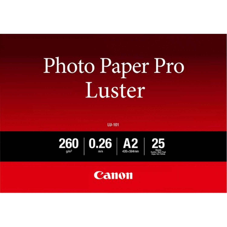 Canon Lu 101 Luster Photo Paper Pro A2 25 Vel Canon Nederland Store