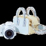 Image of Canon EOS 100D white + 18-55mm STM lens + Stella McCartney 'Linda' bag