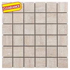 Clearance! Travertini Argento Porcelain Mosaic