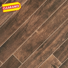 Clearance! Tabula Chocolate Wood Plank Porcelain Tile