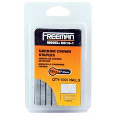 Freeman 18 Gauge Narrow Crown Staple 1in.