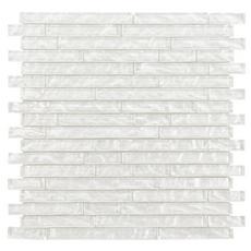 Dream Cloud Linear Crystal Glass Mosaic