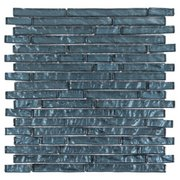 Midnight Blue Linear Glass Mosaic