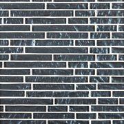 Midnight Blue Linear Glass Mosaic