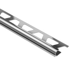 Schluter-Rondec Bullnose Edge Trim 5/16in. in Polished Chrome Anodized Aluminum