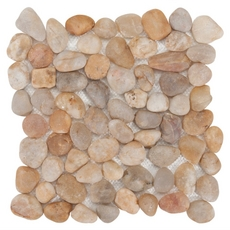 Decorative Gold Pebblestone Mosaic