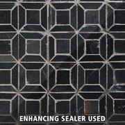 Brushed Squares Slate Mosaic