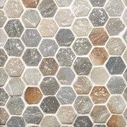 Andes Hexagon Slate Mosaic