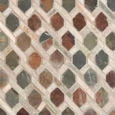 Mixed Diamond Decorative Slate Mosaic