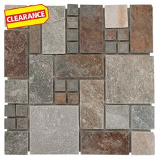 Clearance! Adirondack Pattern Light Decorative Slate Mosaic