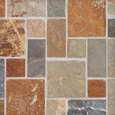 Adirondack Pattern Multi Decorative Slate Mosaic