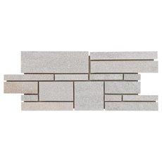 Olympic White Linear Slate Mosaic
