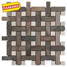 Clearance! Earth Basket Weave Decorative Slate Mosaic