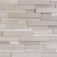 Maravilla Valentino White Interlocking Honed Panel Marble Mosaic