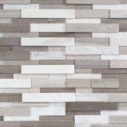 Gray and White Honed Marble Panel Ledger