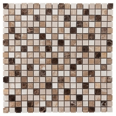 Avillano Super Mix Square Polished Marble Mosaic