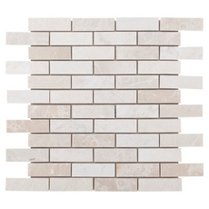 Ice Beige Brick Marble Mosaic