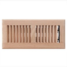 Oak Louvered Unfinished Floor Register