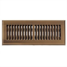 Antique Brass Louvered Floor Register
