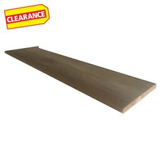 Clearance! Left Hand Oak Single Return - 48 in.