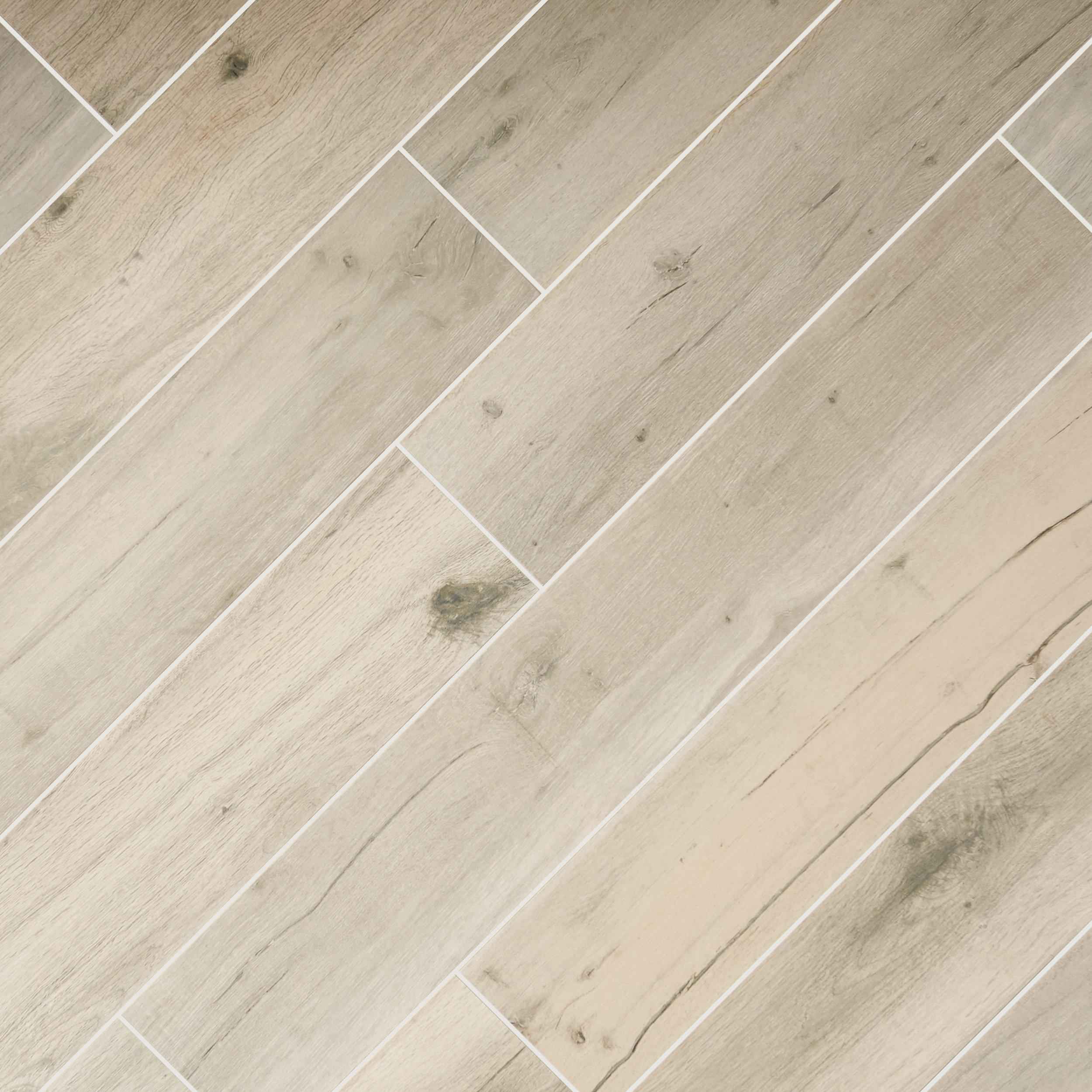 Birch Forest Gray Wood Plank Porcelain Tile