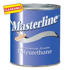 Clearance! Masterline Polyurethane Semi-Gloss Wood Finish 1 quart