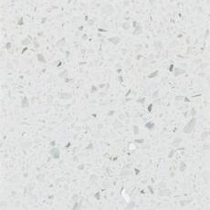Ready To Install Sparkling White Quartz Slab Includes Backsplash