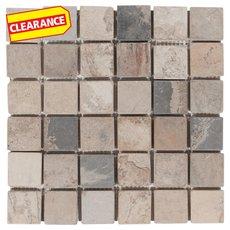 Clearance! Autumn Moss Tumbled Slate Mosaic